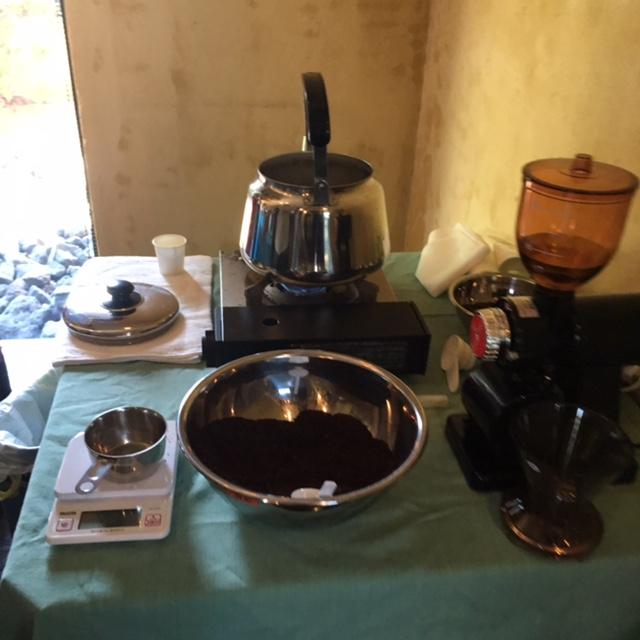 豊橋自家焙煎ブラジル コーヒー麻袋でコーヒー麻バック作りました~♪